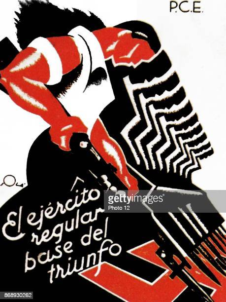Antifascist poster published by the Republican PSUUGT during the Spanish Civil War
