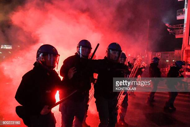 Antifascist protest in Naples with clashes against the police