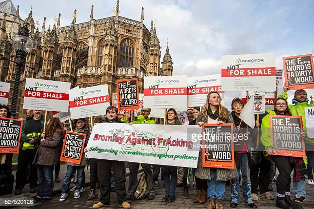 Antifracking protesters gathered outside parliament while MP's debate the future of shale The protest comes as a group of MPs also warn that fracking...