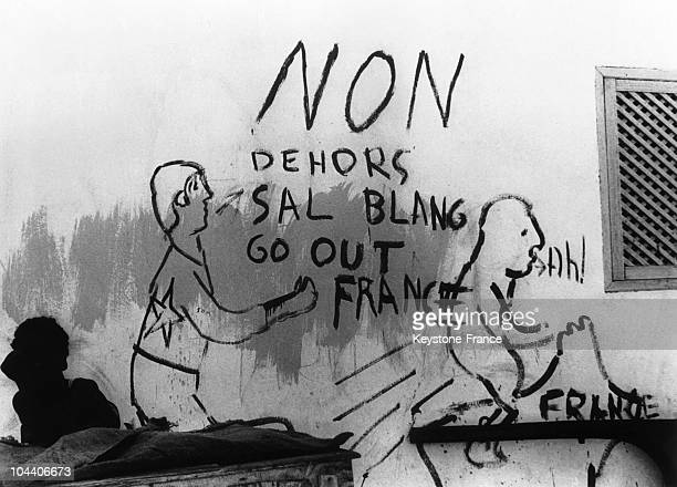 AntiFrench slogans appeared on the walls of Djibouti in March 1967 nearing the referendum by which the citizens were to decide for or against...