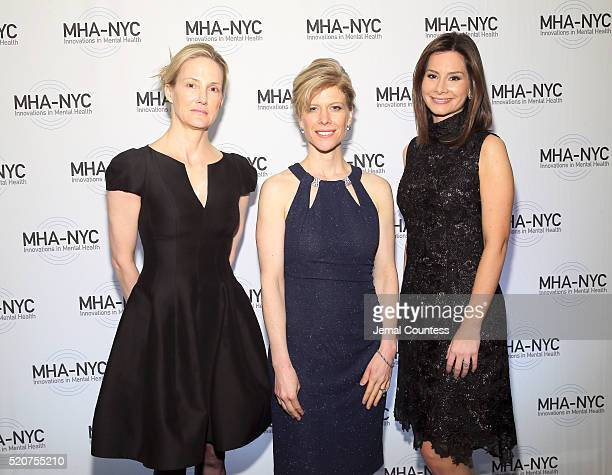 Antigone Davis Sarah Vander Schaaff and Rebecca Jarvis attend 2016 Many Faces Of Mental Health Gala at The Pierre Hotel on April 12 2016 in New York...
