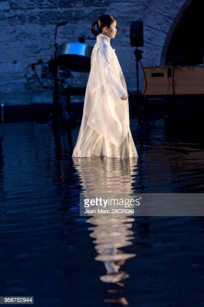 Antigone de Sophocle pièce de théâtre classique mise en scène par le Japonais Satoshi Miyagi présentée le 4 juillet 2017 pour l'ouverture du festival...