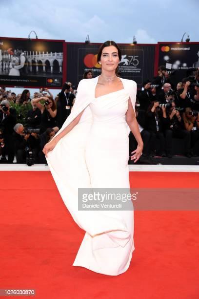 Antigone Kouloukakos walks the red carpet ahead of the 'Suspiria' screening during the 75th Venice Film Festival at Sala Grande on September 1 2018...
