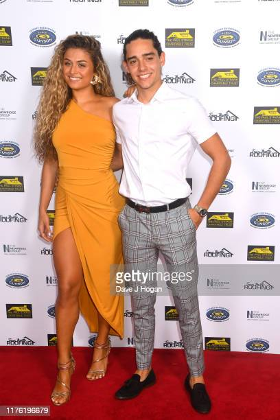 Antigoni Buxton and Jack Tyrimos during the Paul Strank Charity Gala at the Bank of England Sports Centre on September 21 2019 in London England