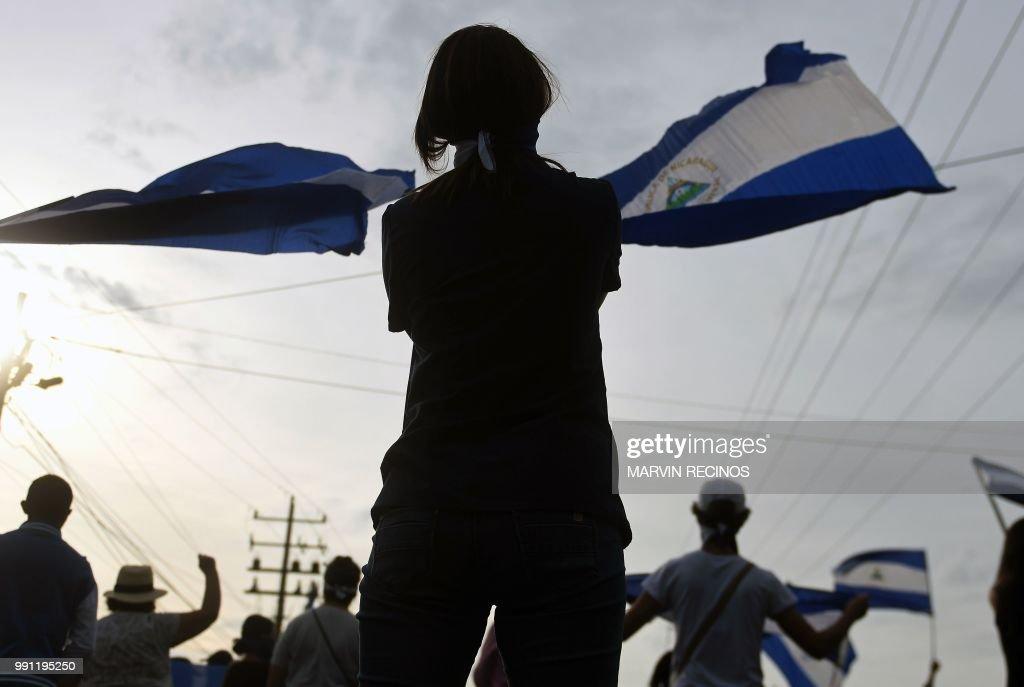 NICARAGUA-UNREST-DEMO : News Photo