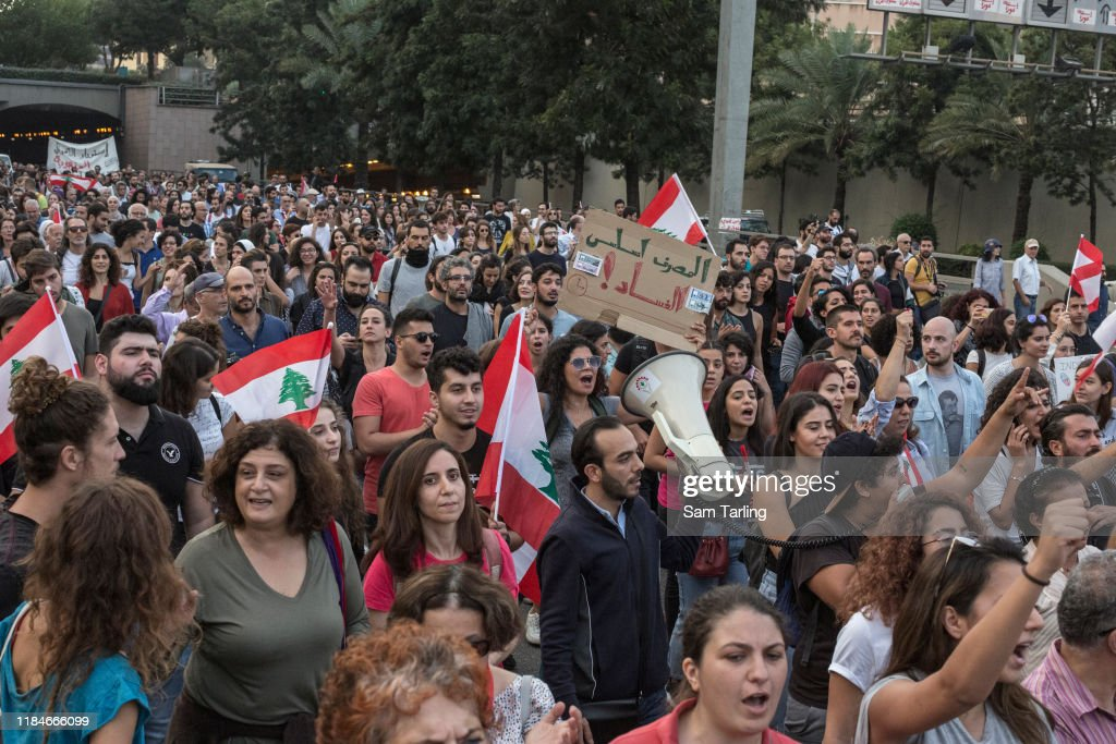 Anti-Government Demonstrations Continue In Lebanon : News Photo