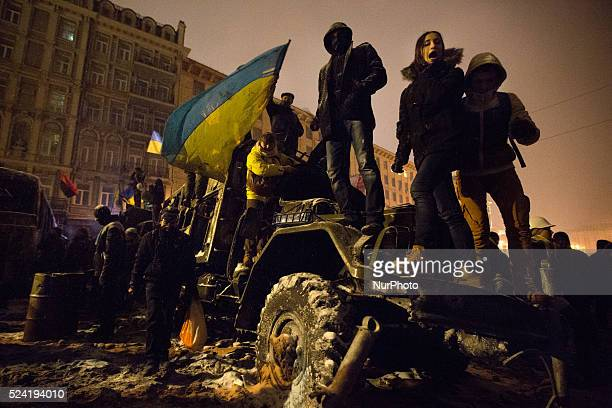 antigovernment protest in Kiev Ukraine