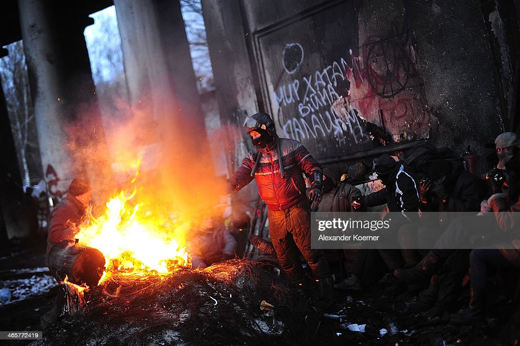 Protests Continue In Kiev As The Opposition Calls For A Snap Election : News Photo