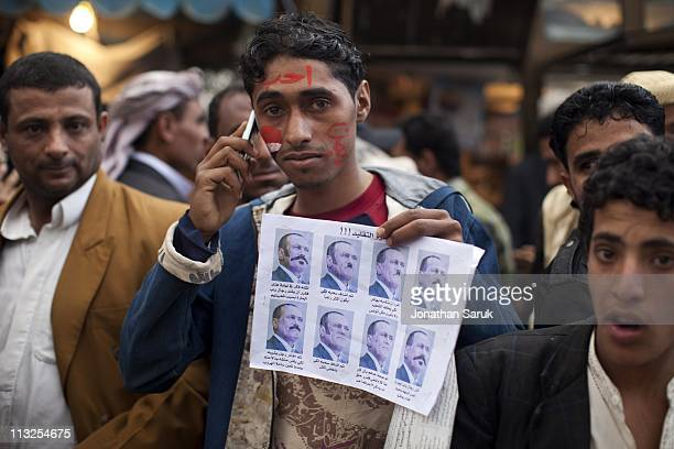 Anti-government protesters at the anti-government protest site in front of the University of Sana on March 10, 2011 in Sana, Yemen. Thousands of...