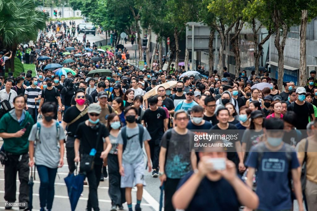 HONG KONG-CHINA-POLITICS-UNREST : News Photo