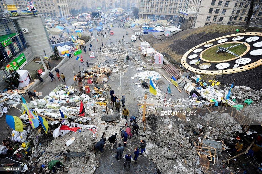 Kiev Braces For Labour Strikes As Protests Continue : News Photo
