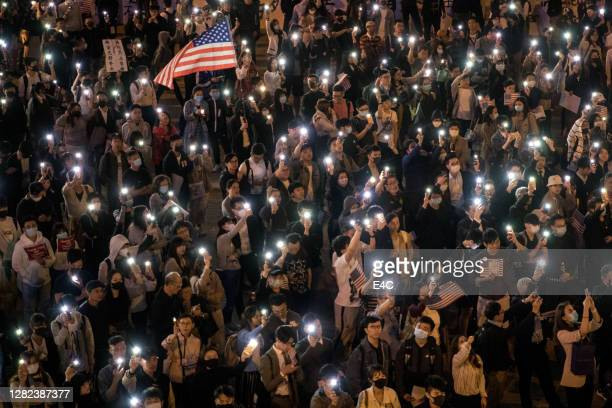 anti-government protests in hong kong - demonstration stock pictures, royalty-free photos & images
