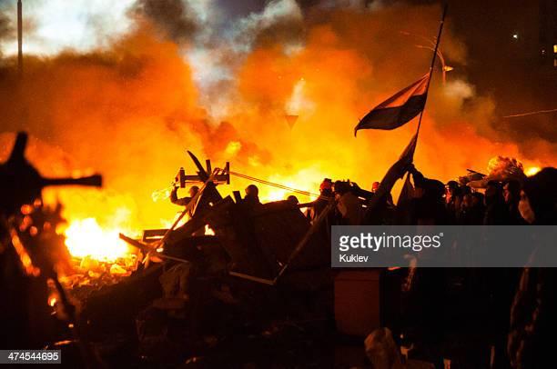 Anti-Government Riot in Kyiv Ukraine