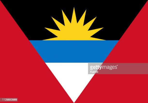 antigua and barbuda flag - antigua & barbuda stock pictures, royalty-free photos & images