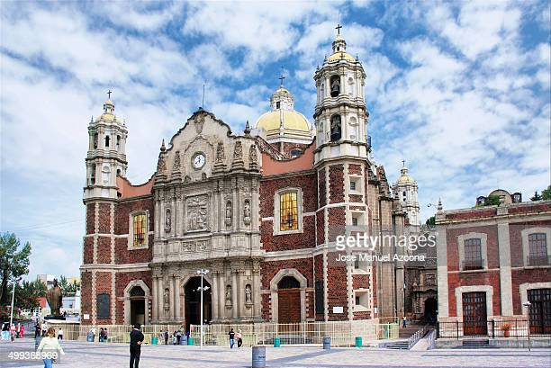 antigua basílica de santa maría de guadalupe - basilica stock pictures, royalty-free photos & images