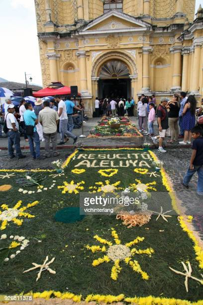 antigua easter sunday procession - he is risen stock pictures, royalty-free photos & images