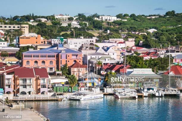 antigua harbor - antigua & barbuda stock pictures, royalty-free photos & images