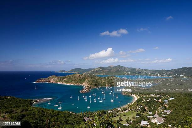 antigua landscape - falmouth england stock pictures, royalty-free photos & images
