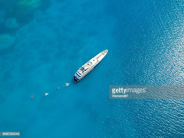 antigua, luxury yacht - yacht stock pictures, royalty-free photos & images