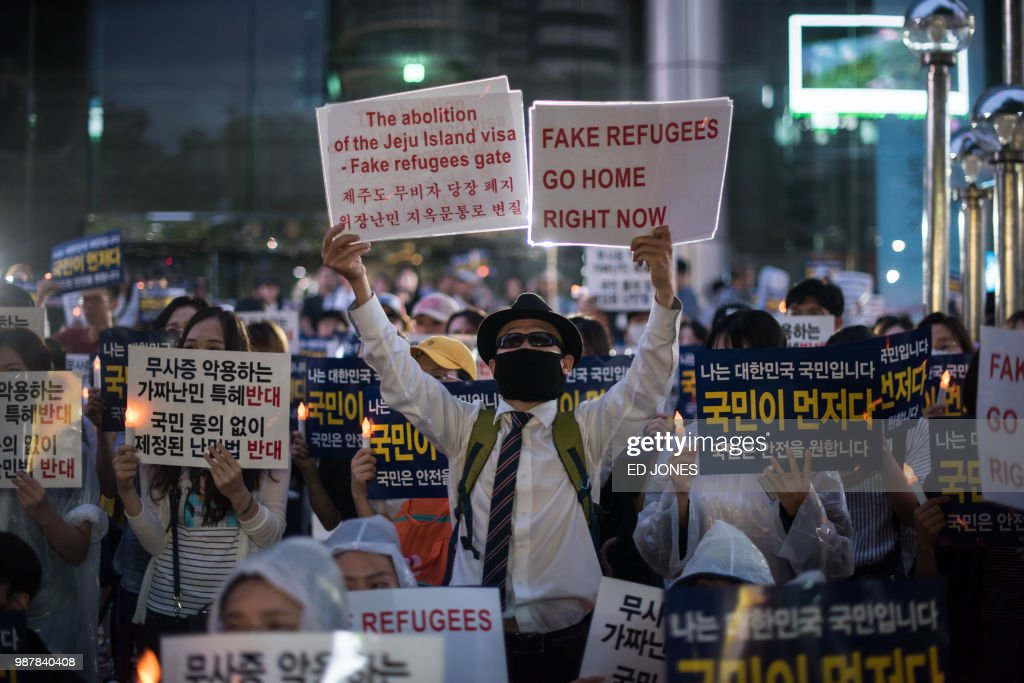 SKOREA-YEMEN-REFUGEES-SOCIAL-MIGRATION : News Photo