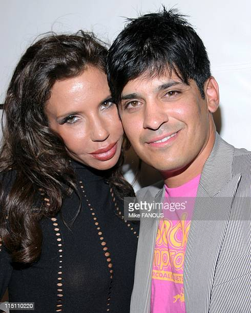 Antik Denim store opening party in Los Angeles United States on August 18 2005 Pietra Thornton and Antonio Rufino at Antic Denim