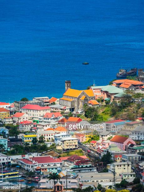 Antilles, Lesser Antilles, Grenada, view to St. George's from above