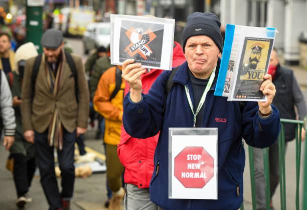GBR: Anti-Lockdown Protest In Bournemouth