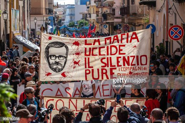 Antimafia activists and ordinary citizens marched Wednesday to the Sicilian town of Cinisi to honor the 40th anniversary of the death of antiMafia...