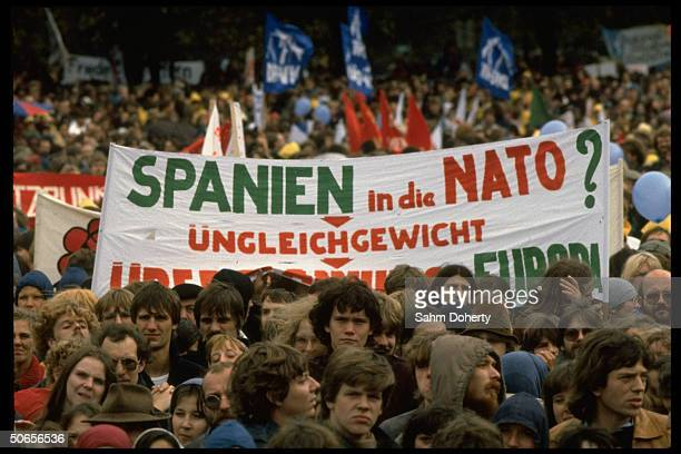 Anti-NATO sign at peace demonstration