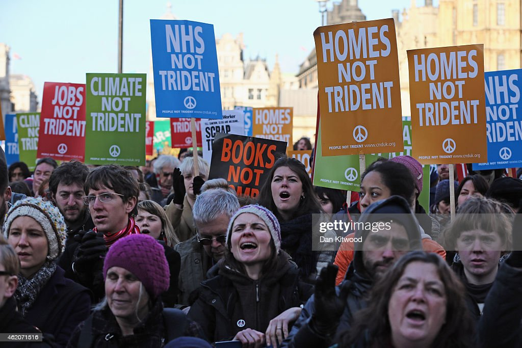 Anti-Nuclear Campaigners Attend Rally To Protest Against Trident : News Photo