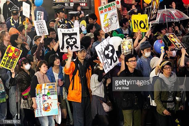 Anti-nuke Demo in Shibuya, 3 months after the Great Eastern Earthquake and Tsunami.