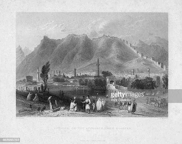 'Antioch on the approach from Suadeah' 1836 The ancient city of Antioch was founded in 301 BC It was the capital of the Seleucid dynasty in Syria and...