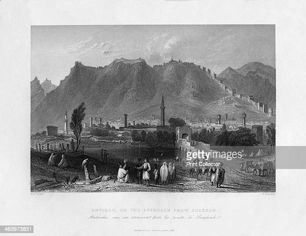 Antioch on the approach from Suadeah Turkey 1841 From Syria the Holy land and Asia Minor volume I by John Carne published by Fisher Son Co