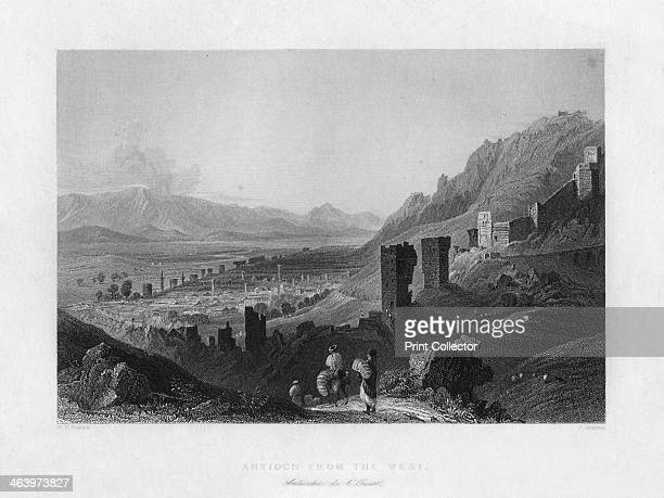 Antioch Turkey 1841 As seen from the west From Syria the Holy land and Asia Minor volume I by John Carne published by Fisher Son Co