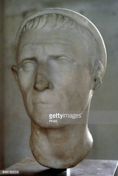 Antiochus III the Great Hellenistic Greek King and the 6th ruler of the Seleucid Empire Bust Roman copy of bronze original 3rd BC Louvre Museum Paris...
