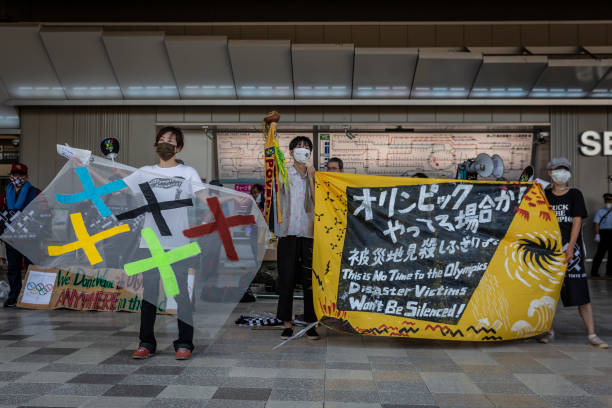 JPN: Protesters Gather Ahead Of The Tokyo Olympics Opening Ceremony