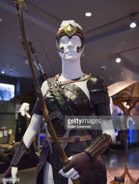 """""""Antiope, General of the Amazons"""" at the updated DC Universe Exhibit at Warner Bros. Tour Center on May 3, 2018 in Burbank, California."""