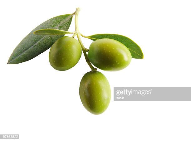 antipasti - olives isolated iii - green olive stock photos and pictures