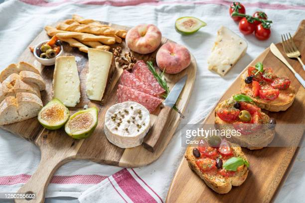 antipasti platter - antipasto stock pictures, royalty-free photos & images