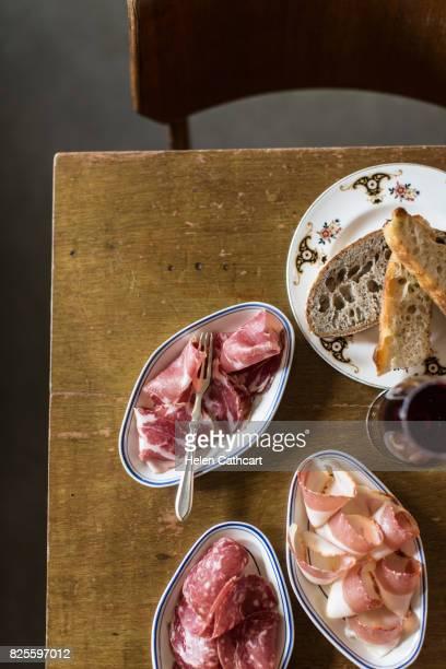 Antipasti starter in Italian restaurant