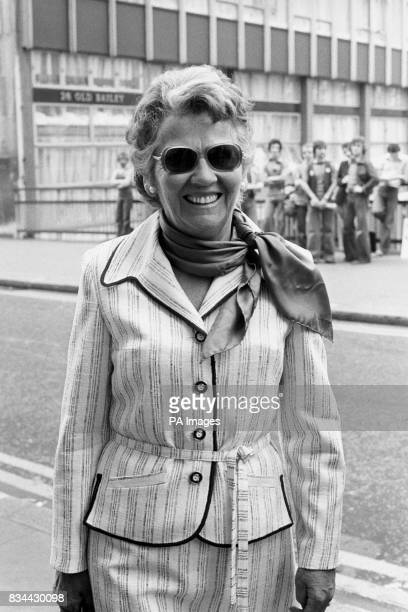Antiporn campaigner Mary Whitehouse on her way to the Old Bailey for the start of the prosecution alleging blasphemous libel she has brought against...