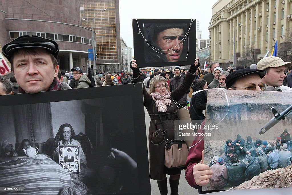 Rallies Held In Moscow Ahead of Secession Vote : News Photo