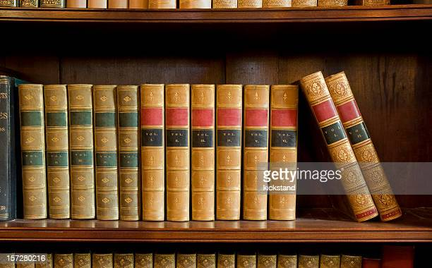Antiquarian books with blank spines