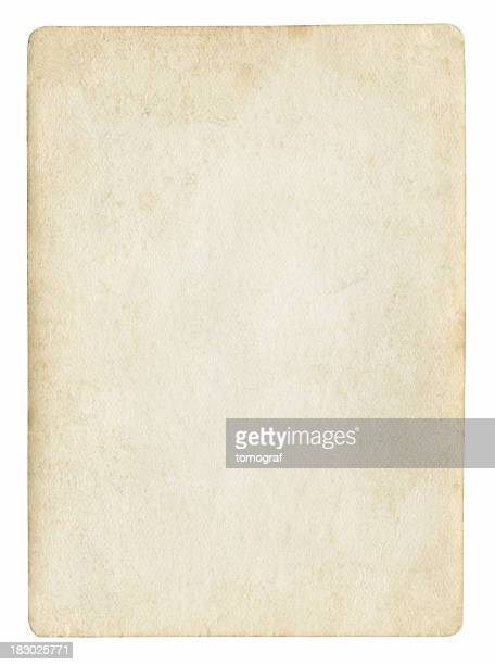 Antiquated sheet of paper with nothing written on it