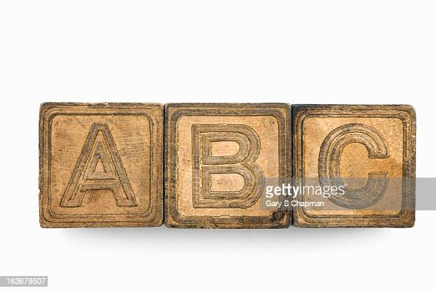 Antique ABC blocks