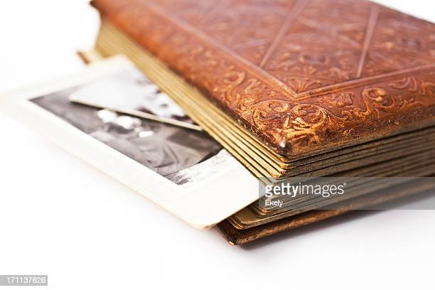 Antique album with photographs.