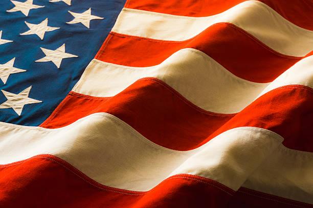 Antique American Flag Draped P