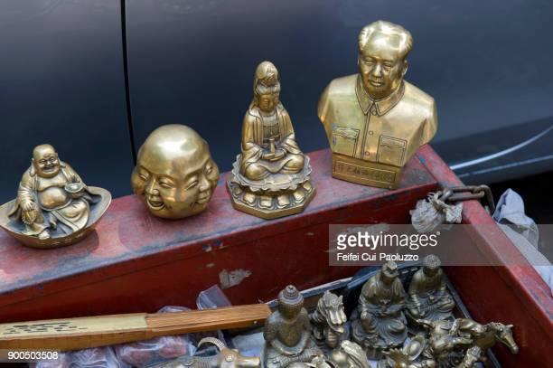 antique and vintage decorative object for sale at beijing, china - フリーマーケット ストックフォトと画像