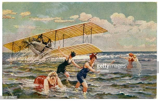 Antique artist signed postcard by Arthur Thiele humour 1910