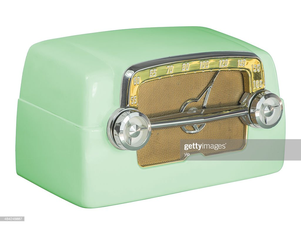 Antique Bakelite Tube Radio 07 Green : Stock Photo
